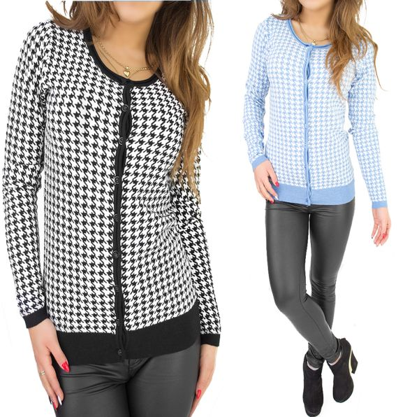LADIES SWEATER,<br>BLOUSE, HOUNDSTOOTH