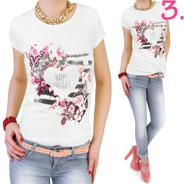 TOP, BLOUSE, PRINT<br>HAPPY THOUGHTS
