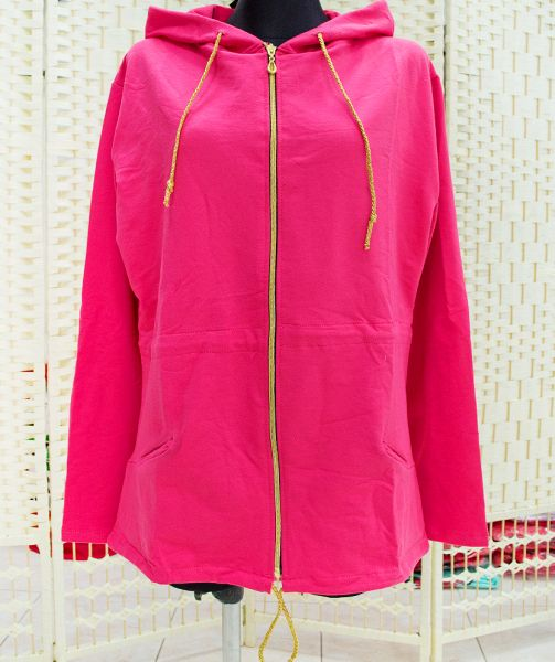 B18122, laza<br> kabát, kabát<br>kapucnival, PINK