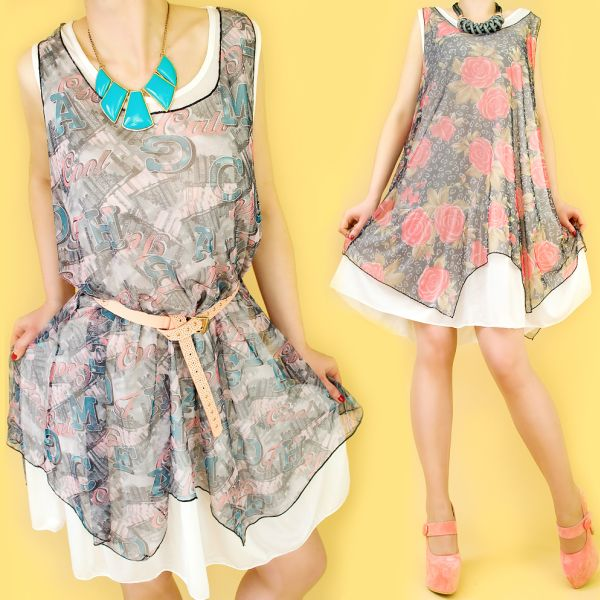 ROMANTIC DRESS,<br>ROSES, GRAFFITI