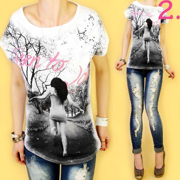 TOP, blouse,<br> fotoprints, rende<br>naar LOVE