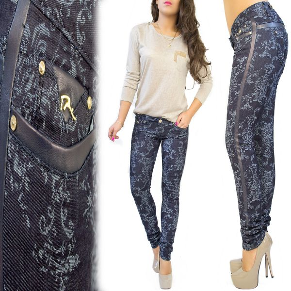 ORIENT EMBROIDERY JEANS