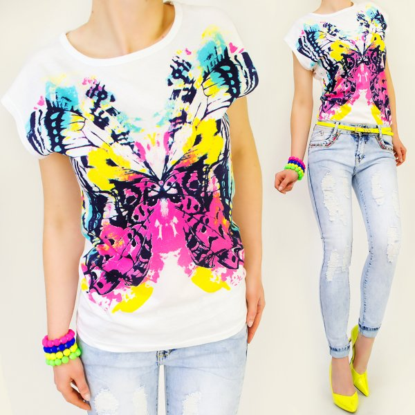 GREAT TOP, BLOUSE,<br> MEGA COLOUR<br>BUTTERFLY