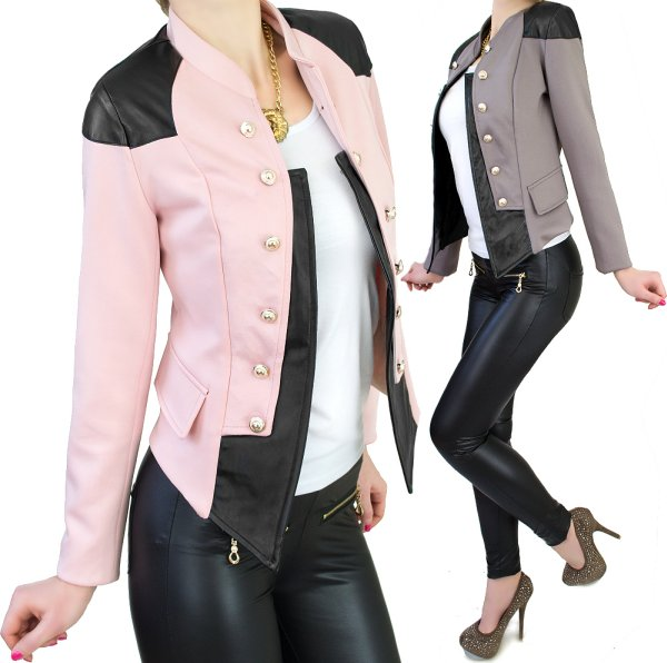 ASYMMETRICAL<br>JACKET, GOLD BUTTONS