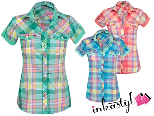 COLORFUL COTTON SHIRT FASHION GRILL MIX