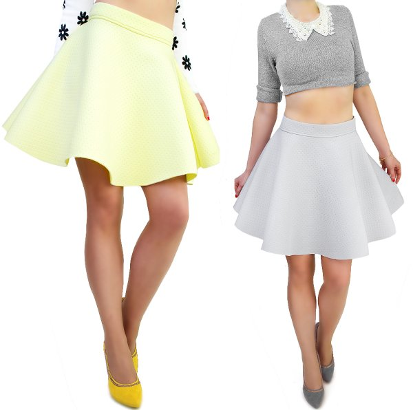 GREAT, flared<br>SKIRT, FOAM FABRIC