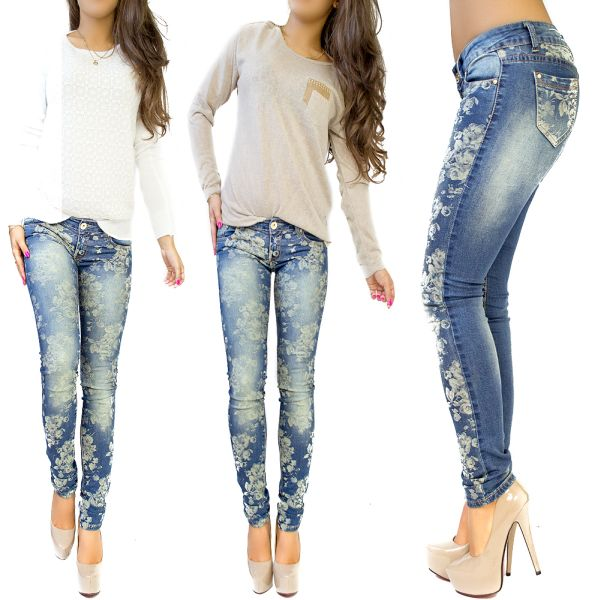JEANS EMBROIDERED