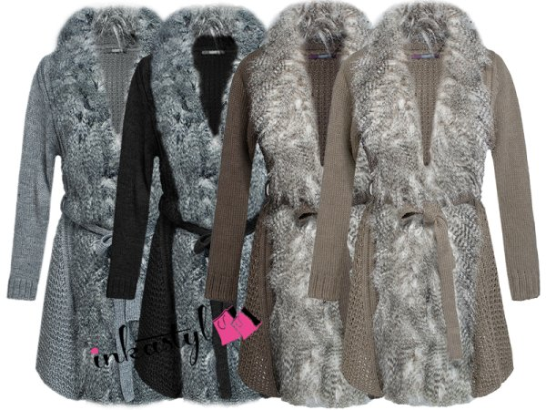 LONG, WARM, cardigan, FURRY, WOOL MIX