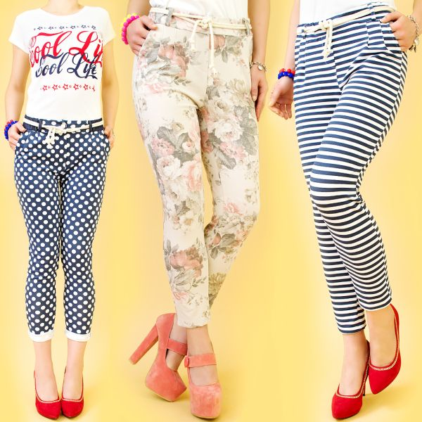 PANTS, CAPRI<br> PANTS, SUPER<br>MODELS, cotton