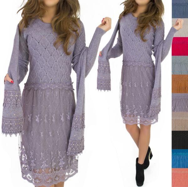 Damen Pullover,<br> Kleid, Tunika,<br>Tuniken, + SCHAL