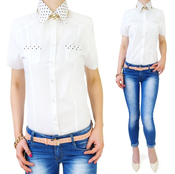 SHIRTS, WOMEN<br>BLOUSE, with STARS