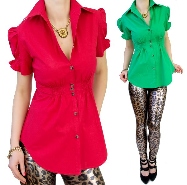 SHIRT, BLOUSE,<br> TRENDY SLEEVES,<br>COLORS