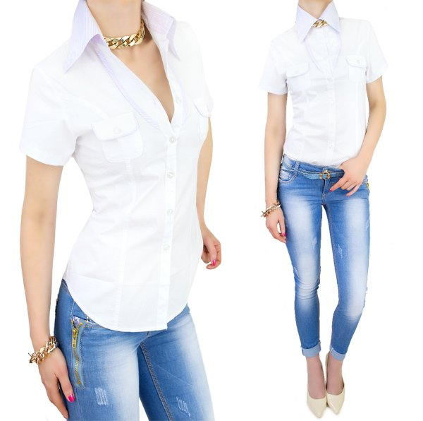 WOMEN SHIRT,<br>BLOUSE with a collar