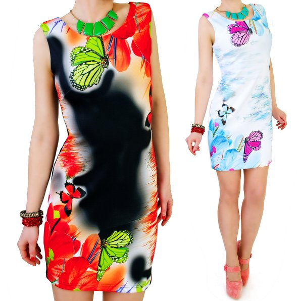DRESS In<br> BUTTERFLIES, 3D<br>Effect, COTTON