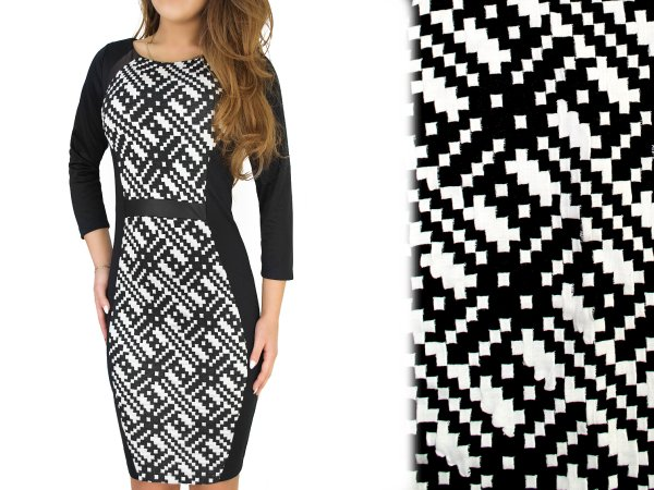 ELEGANT DRESS,<br> GEOMETRIC MODEL,<br>large sizes