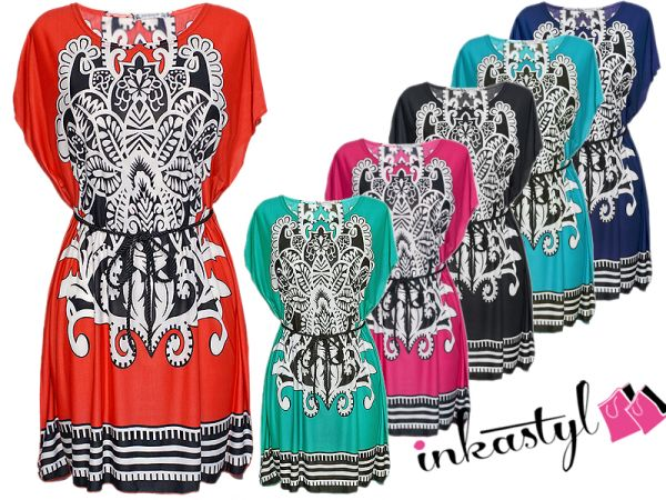 OVERSIZE TUNIC from Aztec STRIP MODEL U-MIX