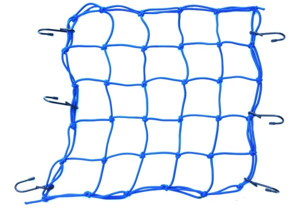Cargo net on a<br>motorcycle