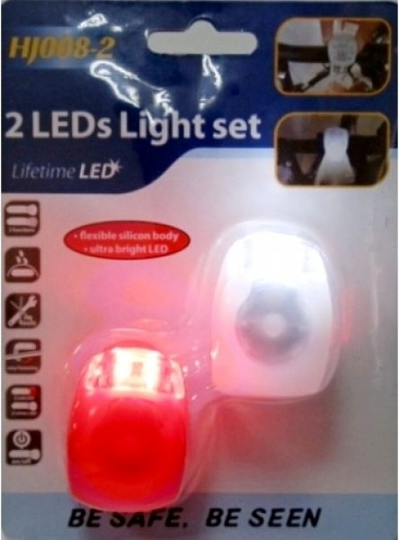 Silicone LED<br>bicycle lights 2 pcs