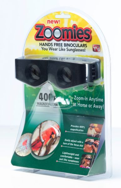 Binocular<br> magnifying glasses<br>ZOOMIES TV