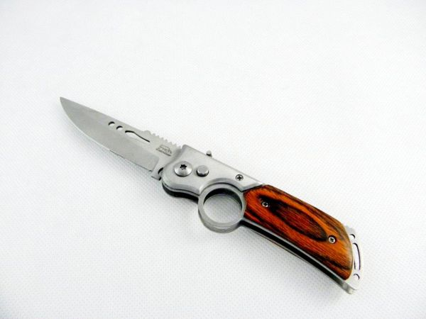 Side pocket knife<br> spring knife 21 cm<br>wood