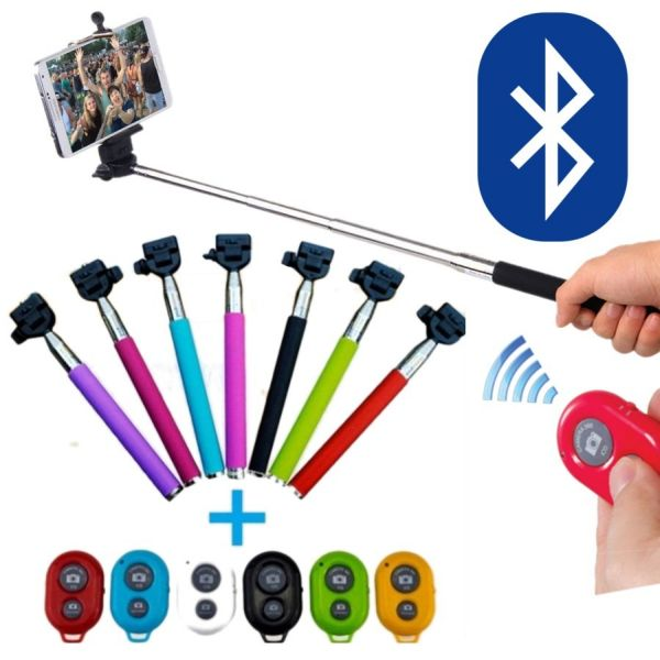 Handle for Selfie<br> bluetooth kit with<br>remote contro