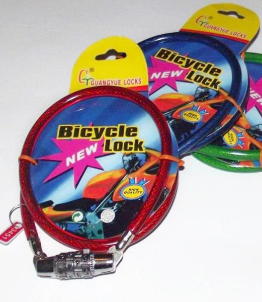 Bicycle lock code