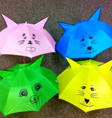 Children's umbrella with ears