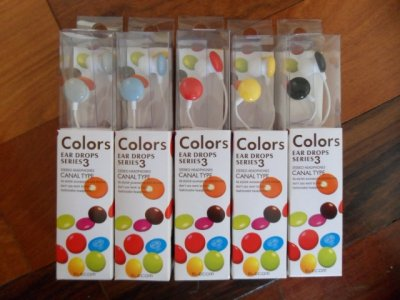 Earphones MP3/MP4 colorful stereo