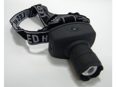 Zoom Headlamp with LED 3 Watt