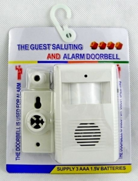 The motion sensor<br>doorbell doorbell