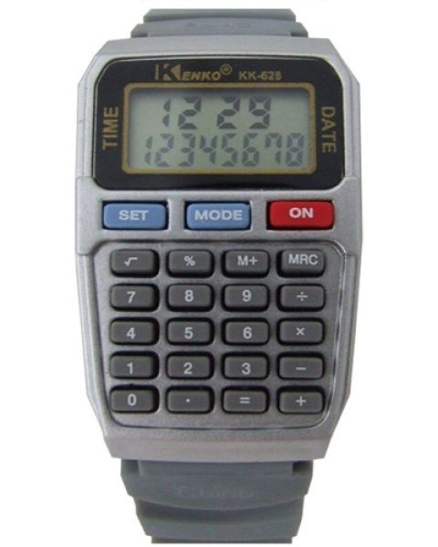 The watch with<br>calculator