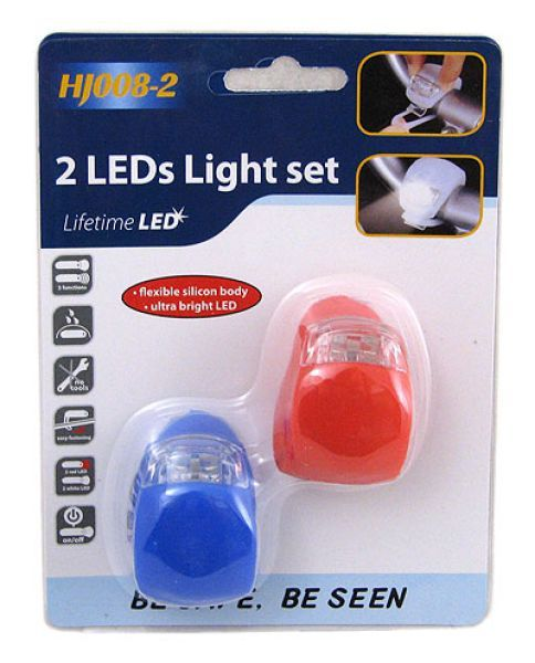 LED bicycle lights<br>silicone 2 pieces