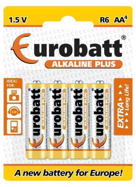 Alkaline Plus<br> batteries R6 AA 4<br>pcs.