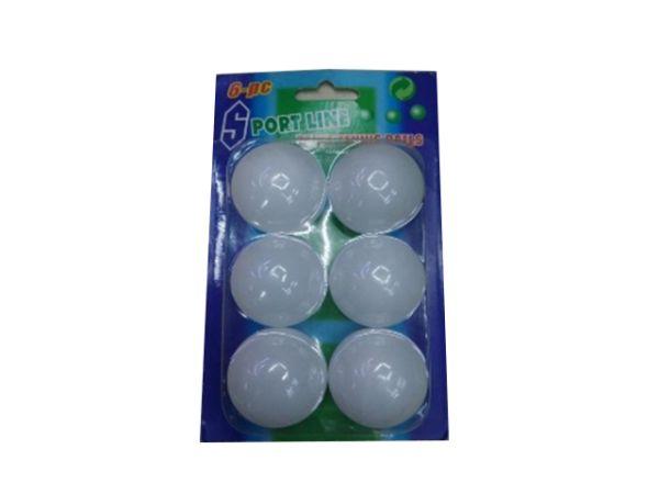 Ping pong balls 6 pcs