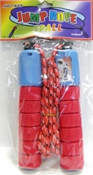 Skipping touw met<br> mierniekem met<br>rubberen handvat