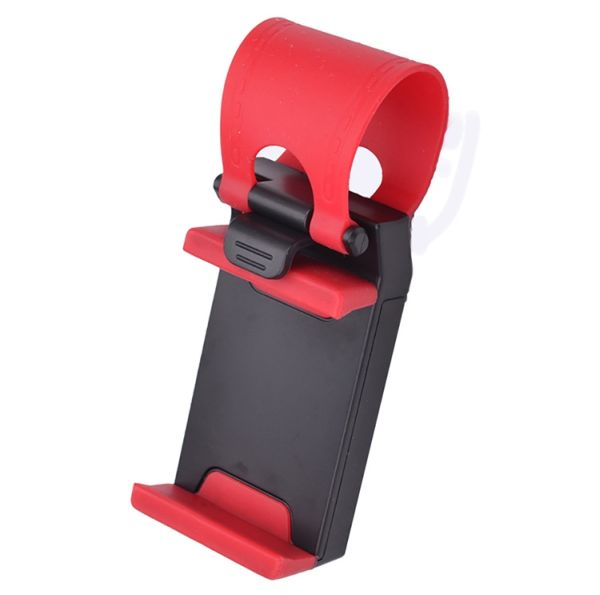 Phone holder on<br>the steering wheel