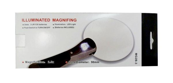 Lupe 90 mm mit 2 x<br>LED-Backlight