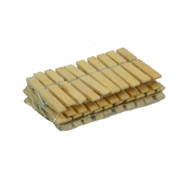Paper clips /<br>bamboo pegs 20 pcs.