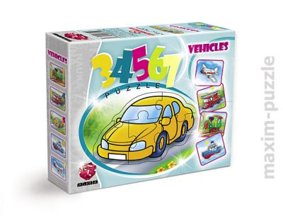 PUZZLE 34567 VEHICLES JIGSAW