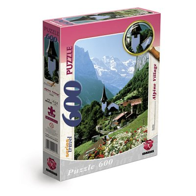 JIGSAW PUZZLE 600 ALPINE VILLAGE