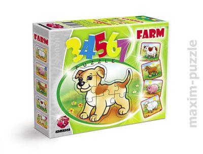 34567 FARM PUZZLE JIGSAW