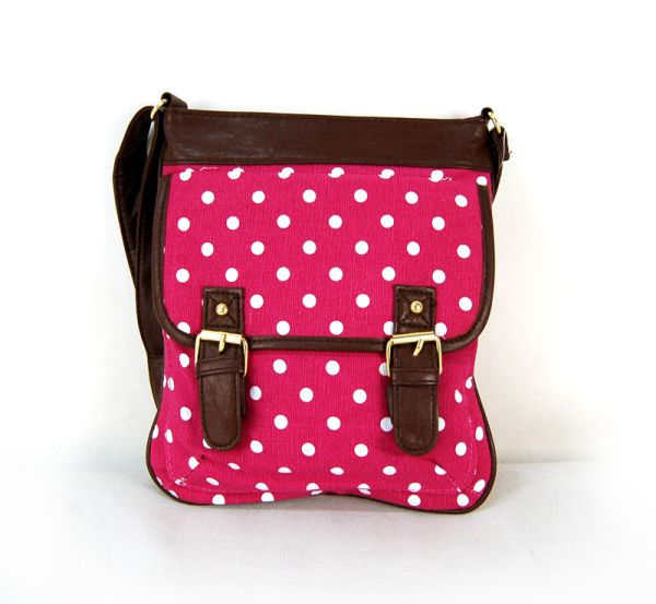 Super bag with long<br>strap CB163 Polka