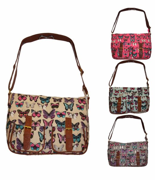 Fashionable Women Satchel Bag Handbag Butterfly