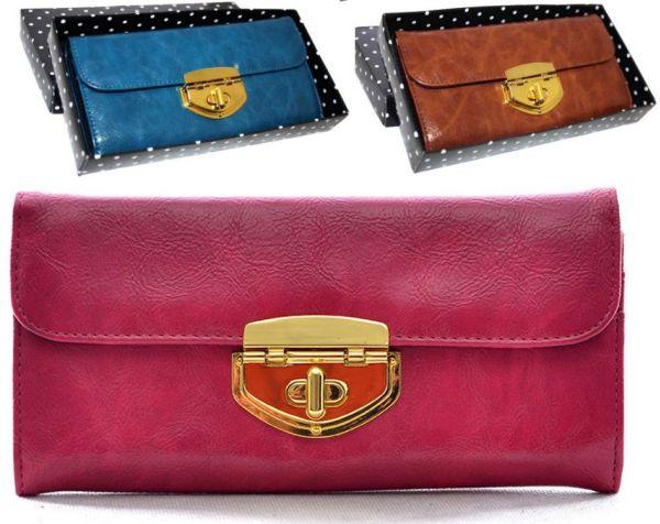 Women Wallet<br> Elagancki PS80<br>decorated gold