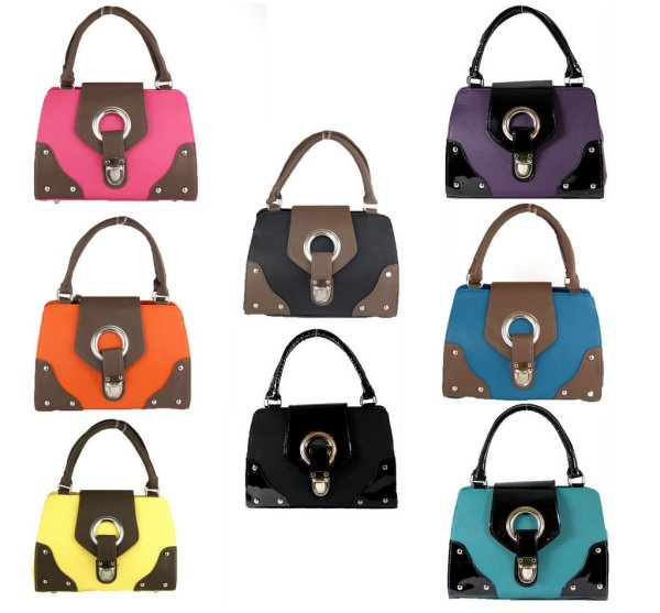 Purse hand bag mix color model 942