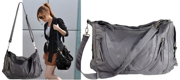 Fashionable women's handbag with long adjustab