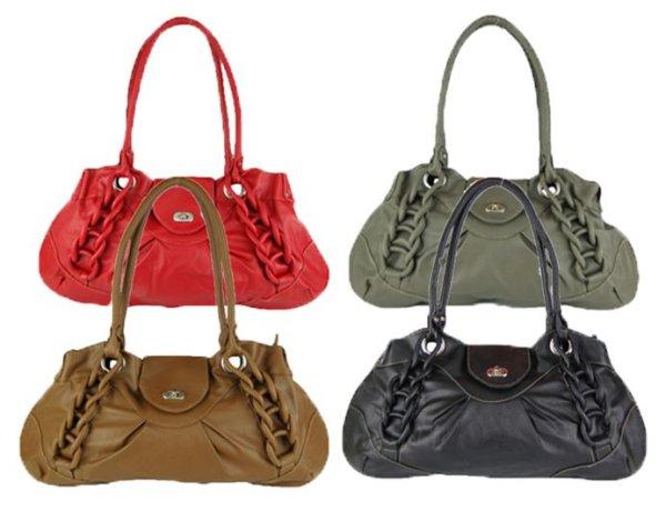 2393 Handbag<br> Handbags braid<br>colors MIX Sale