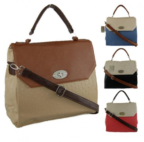 Coffer Bag postwoman two-color - handbags