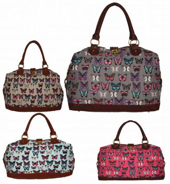 Cb153 Butterflies<br> Large Tote Handbag<br>Women