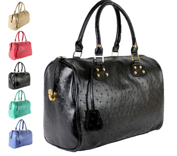 Trunk Bag FB06<br> Ostrich Handbags<br>Colors MIX